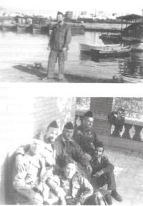 מפקד הטרפדת שמשון עדן וכיתת הסיירים במדים צרפתיים בפורט סעיד לפני פינוים במקשת הצרפתית.