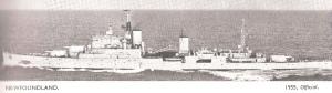 הסיירת הבריטית ניו-פאונדלנד שהטביעה את הפריגטה דומיאט