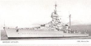 הסיירת הצרפתית ז'ורז' לייג' אנית הפיקוד של מבצע מוסקטר. התמונה מירחון ג'יינס