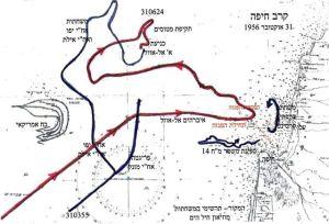 מפת קרב חיפה בו נתפשה האיברהים אל-אוול.