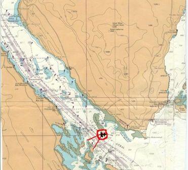 מקום מיקוש וטביעת המיכלית סיריס