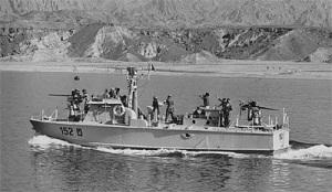 טרפדת ט-152 של פלגה 912 בשיוט במפרץ אילת.