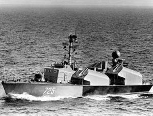 ספינת טילים אוסה שתוכננה לירוט ספינות שרבורג ממזרח לכרתים.