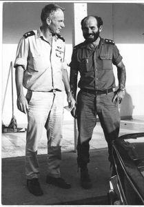ביני תלם עם יומי ברקאי למחרת קרב לטקיה 7 אוקטובר 1973