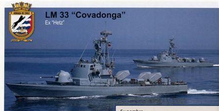 הספינות בשירות הצי הצ'ילני  Covadonga Iquique