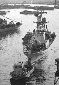 """אח""""י רשף ספינתו של מיכה רם בעת השקתה 24 פברואר 1973"""