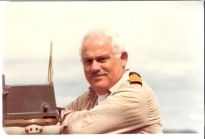 קברניט א.מ. לאה רב חובל אמנון תדמור בגשר הפיקוד.