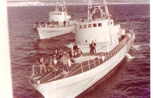 הספינות בעת תדלוק מהאניה