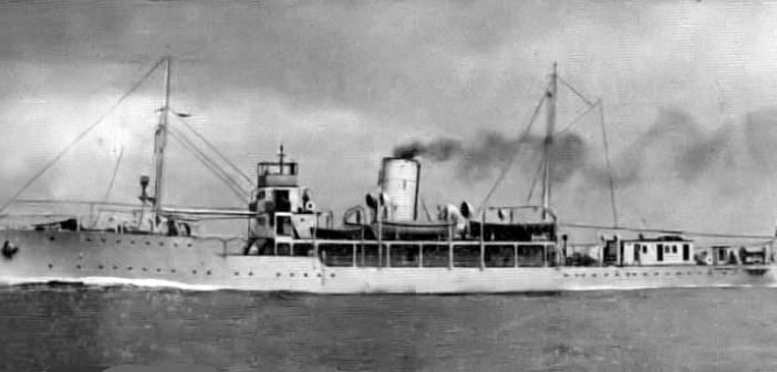 אל אמיר פארוק ספינת הדגל של הצי המצרי הוטבעה מול עזה ב-22 אוקטובר 1948