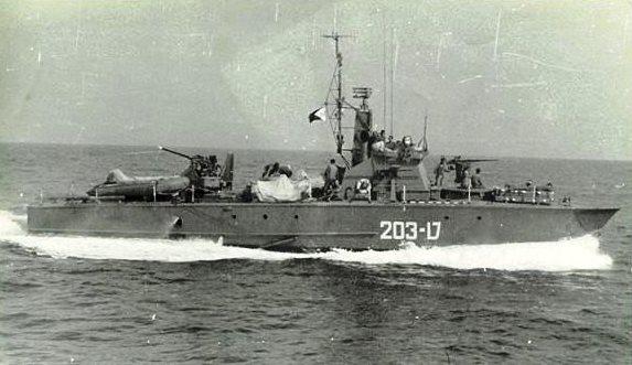 הטרפדת ט-203 בתקופת הארוע