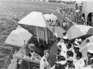 נמל קרטחנה קולומביה הצגת טילי הגבריאל למבקרים