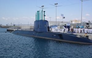 """הצוללת אח""""י תנין הגיעה לנמל חיפה"""