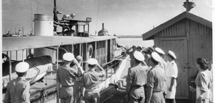טקס מסירת הקרוסטלה לחיל הים 26 אוגוסט 1949