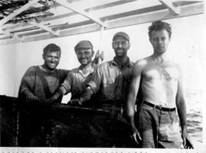 הצוות בזמן ההפלגה