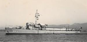 """אח""""י נגה (ק-22) בשנת 1956"""