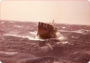 נחתת 36 מטר במצב ים אופייני למפרץ סואץ