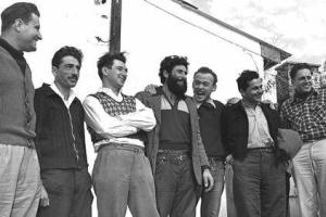 צוות הבת גלים חוזר לישראל 1 ינואר 1955