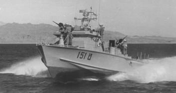 טרפדת ט-151 באימונים במפרץ אילת 1961.