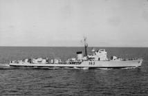 """אח""""י חיפה ק-38 בדרך לנאפולי 1962"""