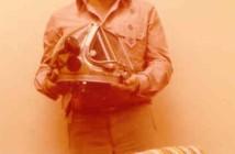 דני אבינון וקסדת קירבי מורגן 1977