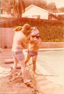 דני אבינון לפני צלילה במתקן הפיתוח של קירבי מורגן