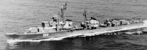 משחתת סקורי מהדגם שביצע את ההפגזה בסיני 7/8 יוני 1967.