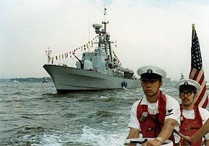 ספינות חיל הים עוגנות בניו יורק מאובטחות על ידי חיילי צי ארצות הברית