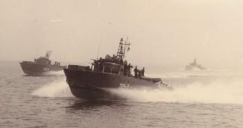 טרפדות בתנועה בים שקט ט-208 משמאל