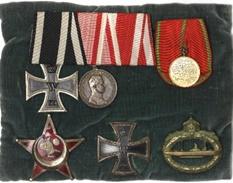 מדליות שקיבל מקס הלר על שירותו בצי הגרמני
