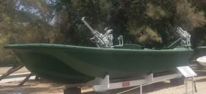 סירת המחבלים מוצגת במוזיאון ההעפלה וחיל הים בחיפה