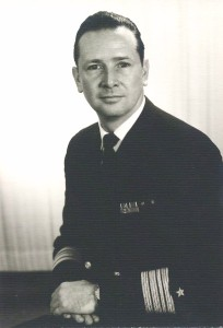אדמירל רודולף ארנדט מפקד שייטת הטרפדות 1966.