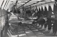 """פנים המחסן באח""""י בת שבע בעת תיקוני החירום על ידי יחידה 707"""
