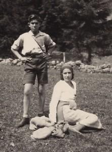 אנריקו לוי ואמו ג'ימה לוי 1930
