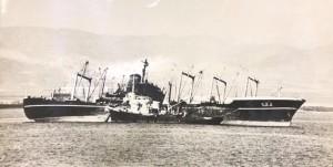 אנייה יפנית 'ימאשירו מארו' בתיקונים בעגינה ליד לטקיה, 26 באוקטובר 1973.