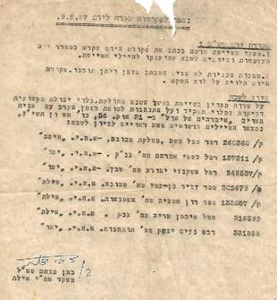 """פקודת יום של מפקד אח""""י אילת מנחם כהן  9 במאי 1957"""