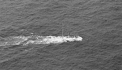 הצילום האחרון של הדקר, התקבל ממטוס סיור אמריקאי, בקטע המערבי של הים התיכון הצוללת במצב שינור. במערב בים התיכון