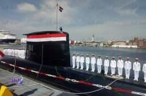 טקס קבלת הצוללת החדשה דגם 209 תוצרת גרמניה, באלכסנדריה, 19 אפריל 2018