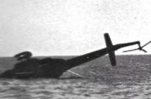מסוק מצרי שהופל על ידי חיל האוויר בסיני 6 באוקטובר 1973