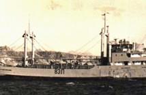 """אח""""י בת ים  (ת-83) בעגינה במפרץ שארם א-שייח , 1968."""