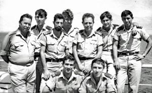 """סגל הקצינים ורס""""ר האנייה, 1968."""