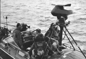 תא הצוות בסנונית נשק בתקופת מלחמת יום הכיפורים.