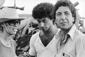 לאונרד כהן, מתי כספי ואילנה רובינא בסיבוב בין היחידות בסיני במהלך המלחמת יום הכיפורים