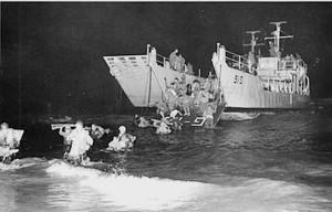 תרגיל נחיתת לילה  במפרץ אילת 1972