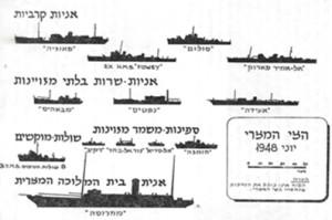 תרשים אוניות הצי המצרי בספרו של אליעזר טל