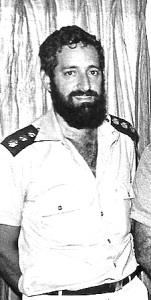 """אל""""מ עמנואל כרמי בתפקיד מפקד יחידת אחסנה ימית - בצ""""ת 1983."""