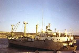 אניית צים א.מ. לאה מתדלקת את ספינות שרבורג בקרבת החוף הספרדי 26 בדצמבר 1969