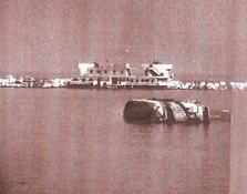 אונייה שהוטבעה בנמל אלכסנדריה מפעולת הצוללים