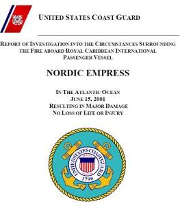 דיווח בדיקת משמר החופים של ארצות הברית על השריפה