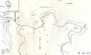 תרשים החוף הדרומי של האי סירינה