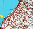 מפת אזור הפשיטהראס א-שק  חוף לבנון בין צור לצידון